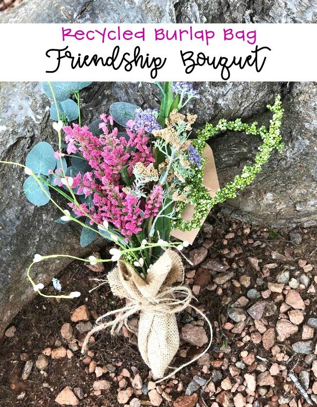 Recycled Burlap Bag Friendship Bouquet