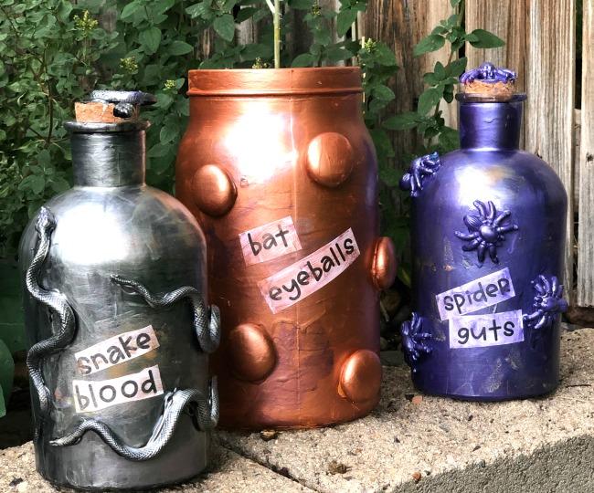 Crafty Spell Jar Decorations