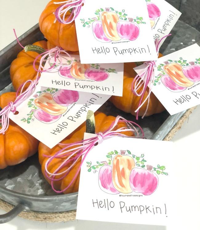 Hello Pumpkin Gift Tag
