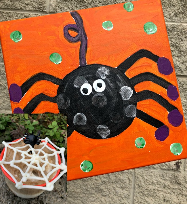 Spider Canvas Painting for Kids