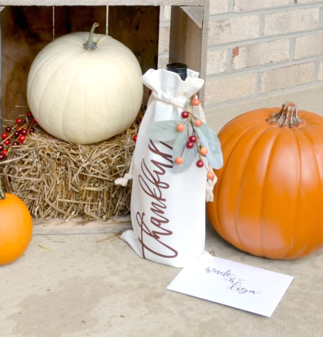 Autumn Porch Decor with Wine