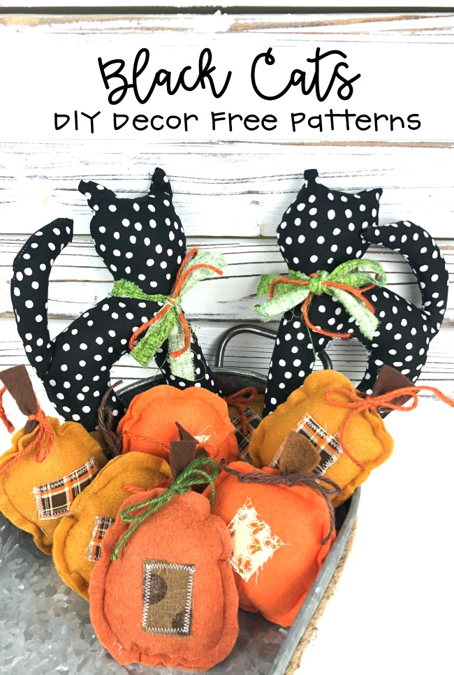 Black Cat Pattern for DIY Crafts