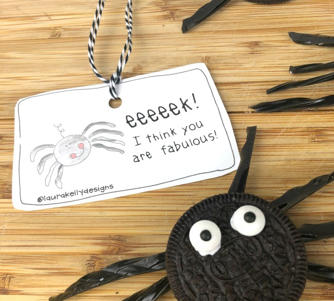 FREE Spider Tag Printable