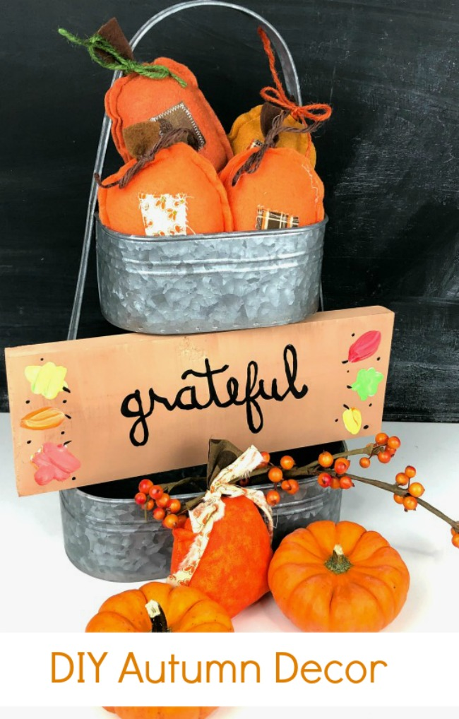 Grateful Sign Handpainted Autumn Decor
