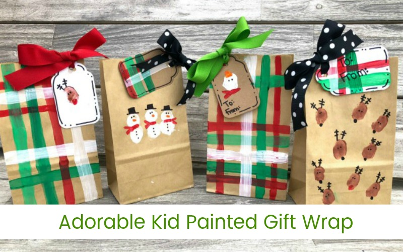 Kid Painted Gift Wrap