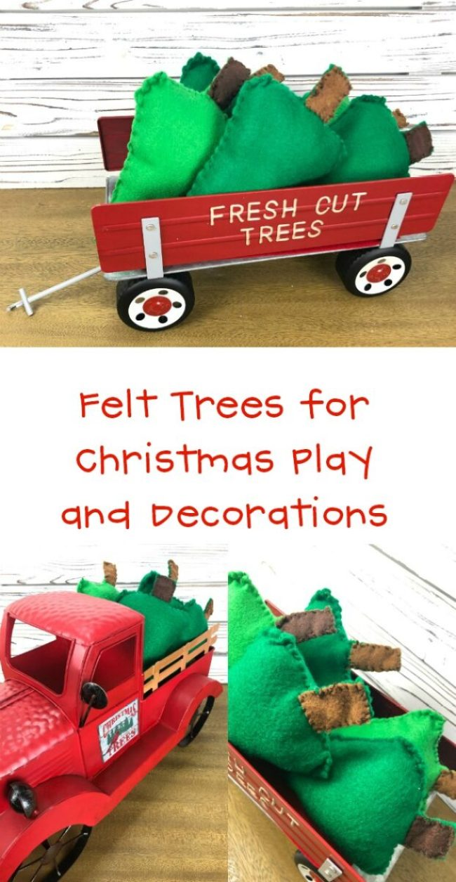 Felt Trees for Christmas Decor and Play