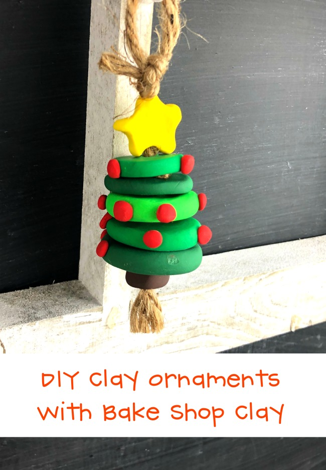 Polymer Clay Christmas Tree Ornament Kid Craft Idea