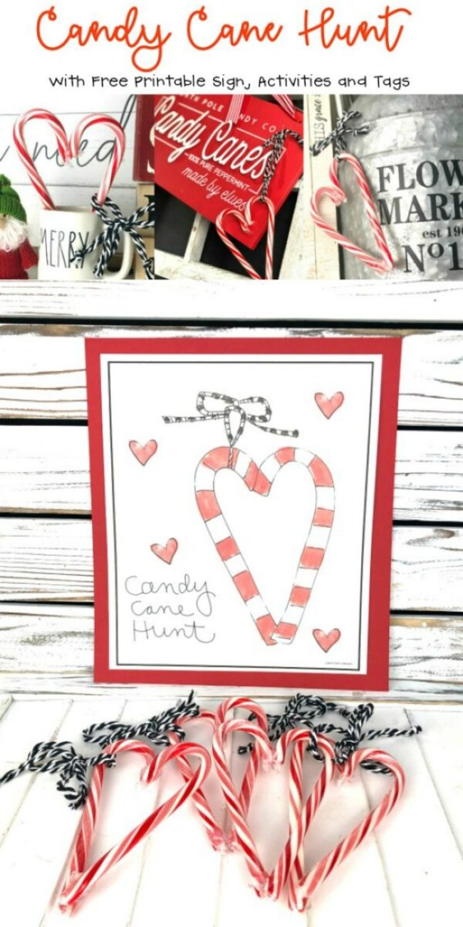 Candy Cane Hunt Printable Party
