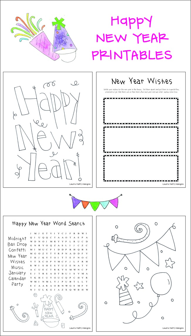 New Year Printables for Kids Free