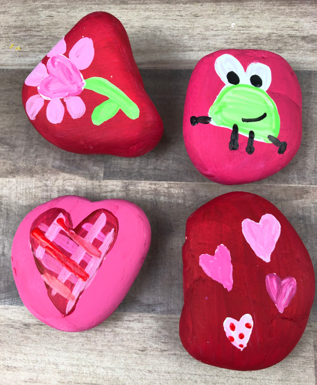 Painted Rocks for Valentines