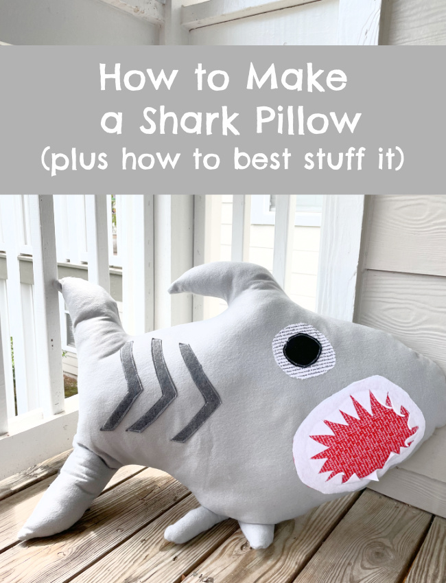 How to Make a Shark Shaped Pillow