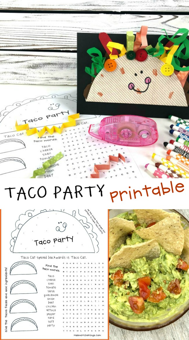 FREE Taco Party Printables #tacoparty #freeprintables #laurakellydesigns