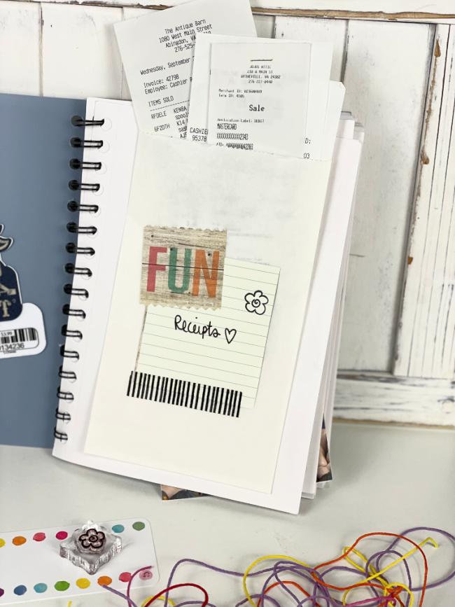 Bag Pocket inside DIY Journal