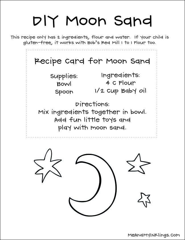 DIY Two Ingredient Moon Sand
