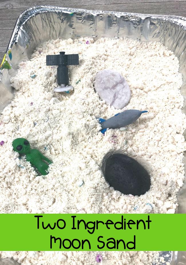 Two Ingredient Moon Sand Kid Craft