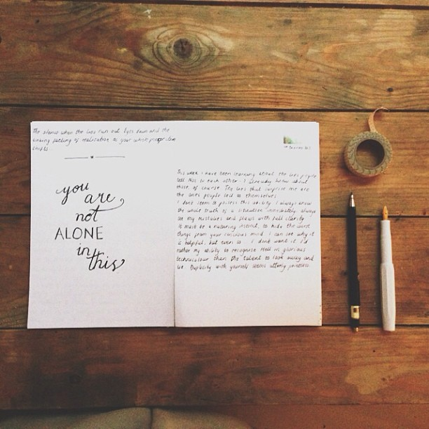 diary calligraphy instagram tips