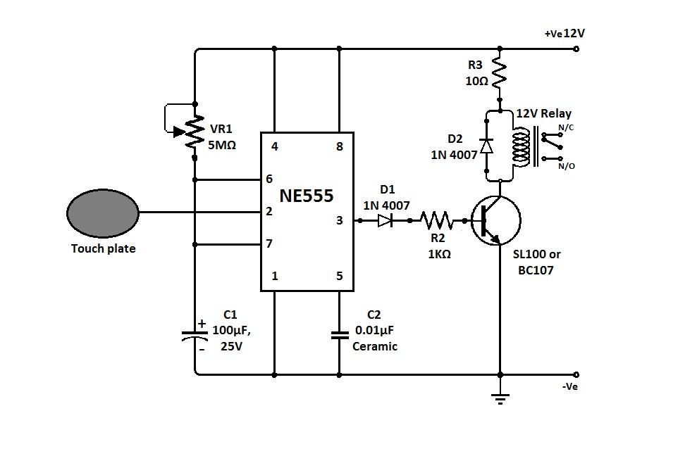 Сенсорный выключатель цепи — Меандр — занимательная