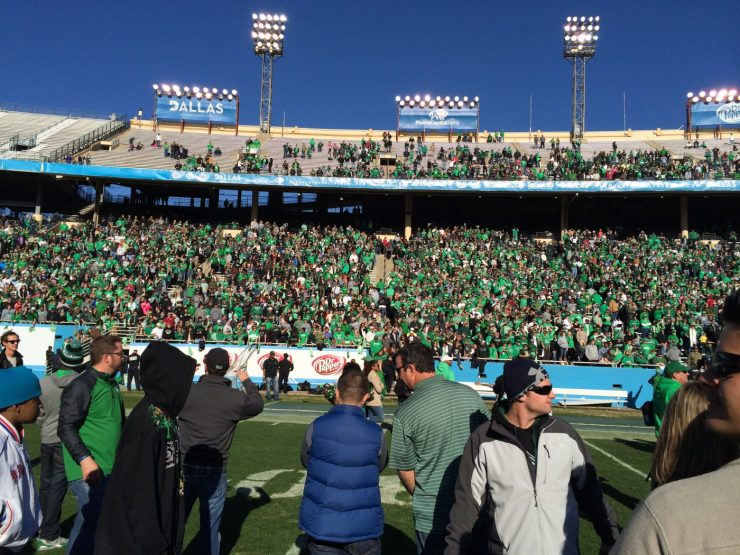 Mean Green Fans at HOD Bowl