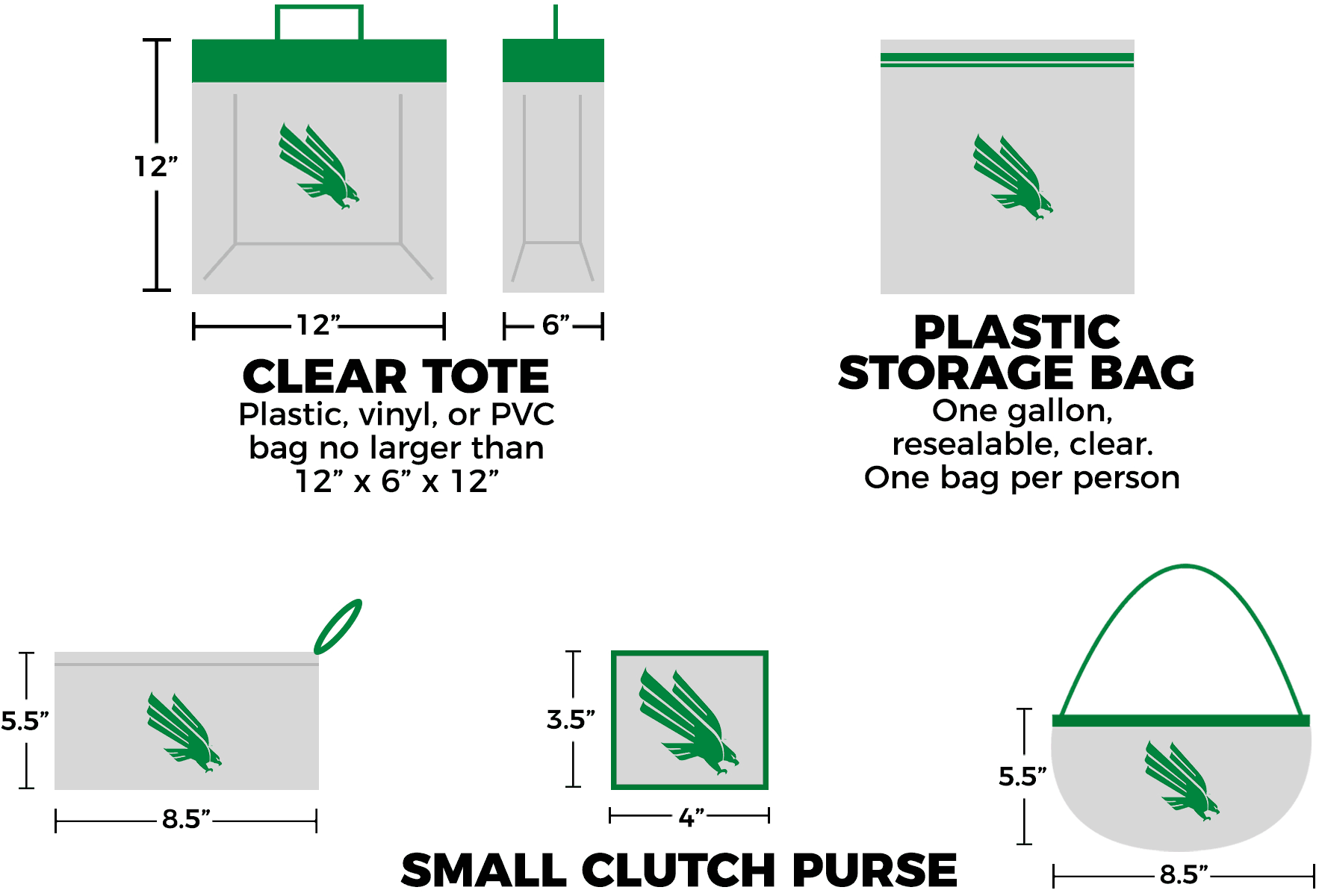 hight resolution of clear bag policy