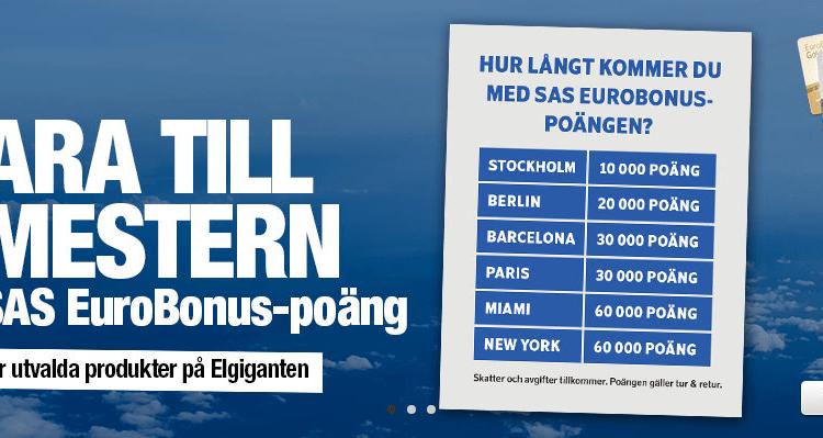 Elgiganten SAS Eurobonus