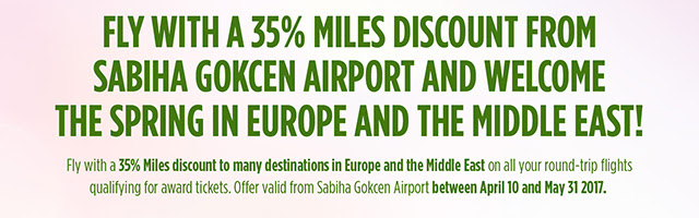 Turkish Airlines: Miles & Smiles 35% Miles Discount