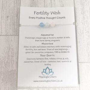 Fertility Bracelet, Fertility Aid, IVF, Fertility Jewellery, Crystal Healing