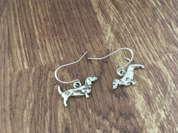 dachshund dog earrings