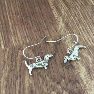 dachshund dog earrings