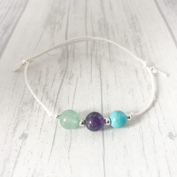 Weight Loss Bracelet, Cotton Cord, Slimming Aid, Crystal Healing