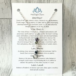 Anxiety Power Necklace, Stress Jewellery, Crystal Healing