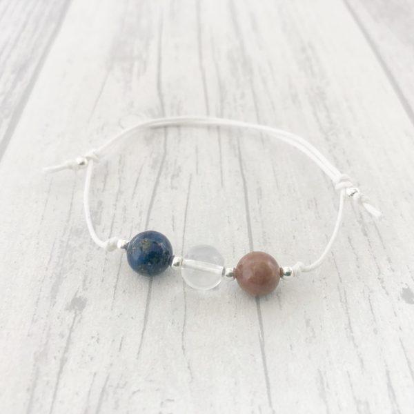 Multiple Sclerosis Bracelet, Crystal Healing, MS