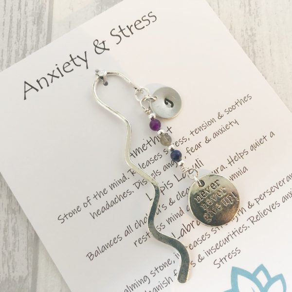 Anxiety bookmark gift, Anxiety Gifts, Mental Health Gifts, Crystal Healing