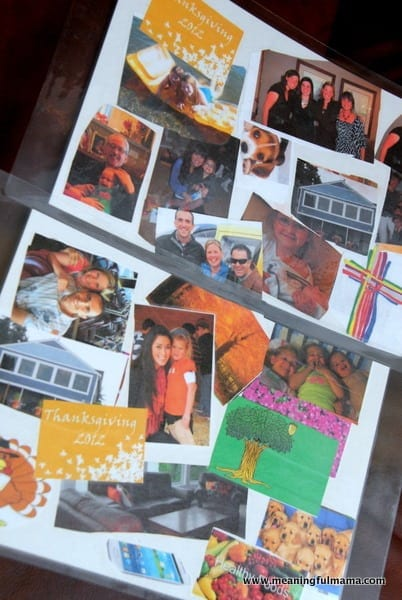 Me Collage : collage, Thankfulness, Collage, Placemat, Thanksgiving