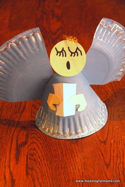 1-angel paper plate christmas craft kids-009