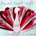 Heart Peacock Craft Teaches True Love from 1 Corinthians 13:4-8