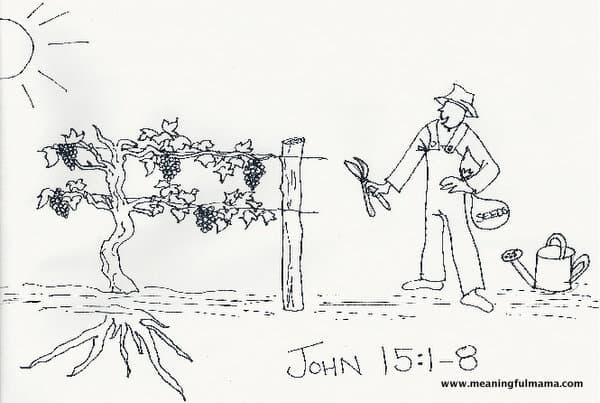 Teaching Kids Virtue with the Bible John 15:1-8
