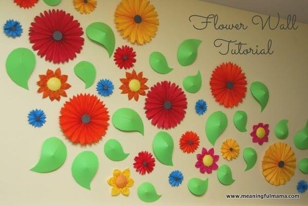 flower wall and paper pinwheel tutorial