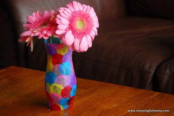 1-#polka dot vase #craft #kids-033