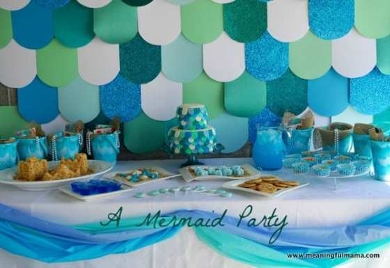 1-#mermaid party #decorating #under the sea #ideas-027