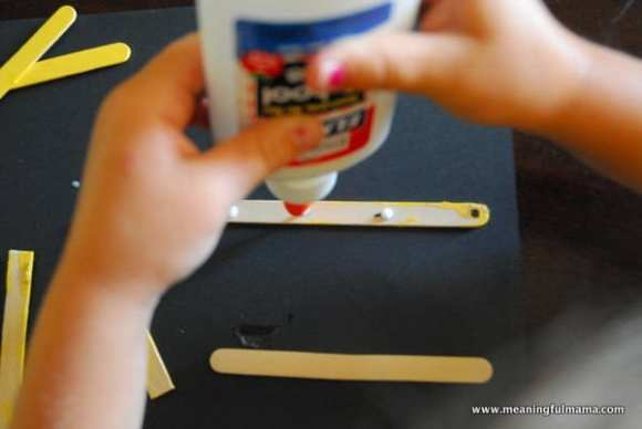 1-#school bus #Popsicle sticks #craft-005