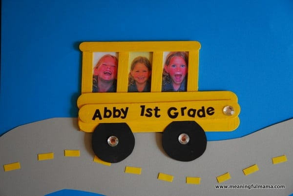 1-#school bus #popsicle stick #craft for kids