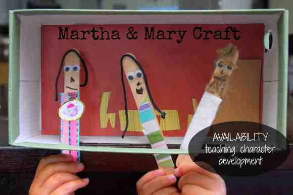#Martha and Mary #craft #kids #Bible #Availability #character development-035