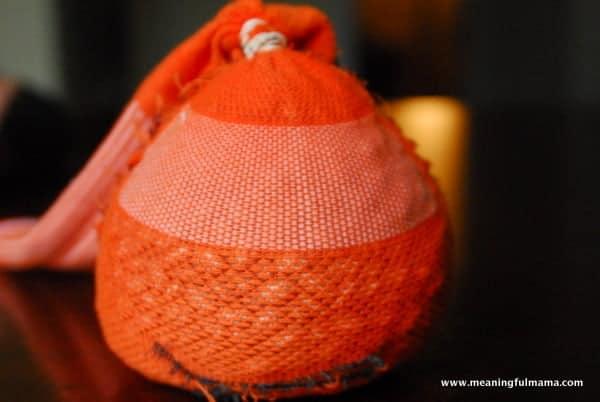 1-#pumpkin sock craft #halloween jack-o-lantern craft-009