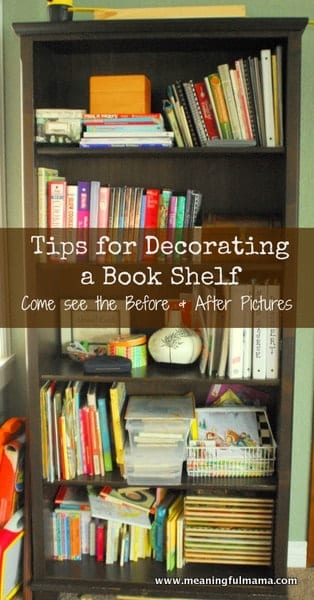 1-#book case makeover #how to decorate a bookcase-041