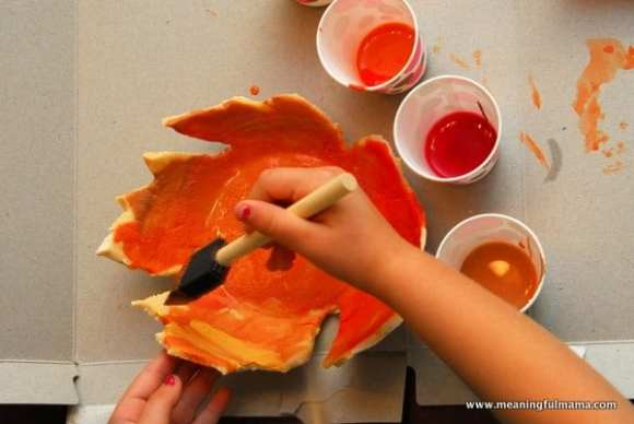 1-#leaf bowl #craft #salt dough #kids-043