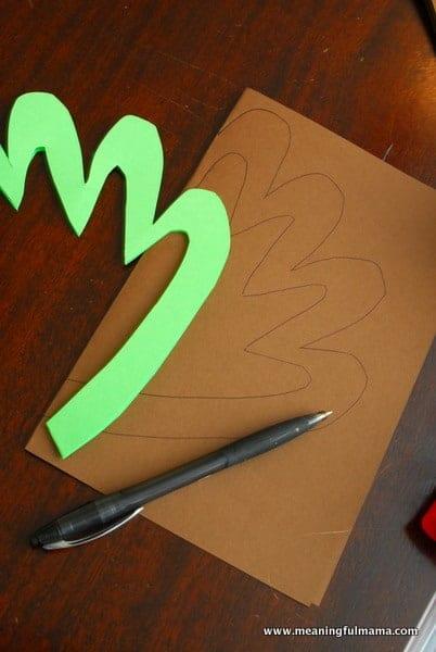 1-#thanksgiving turkey #craft #footprint #craft for kids-008