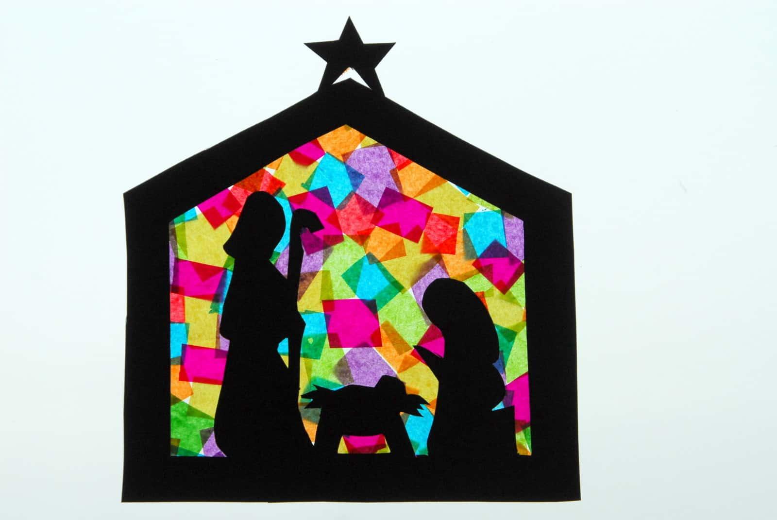 1 Nativitycraft Nativty Stainedglass Christmas Craft