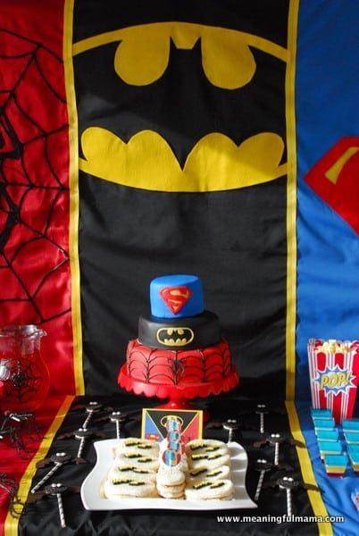 1-#superhero birthday party #ideas #3 year old-054