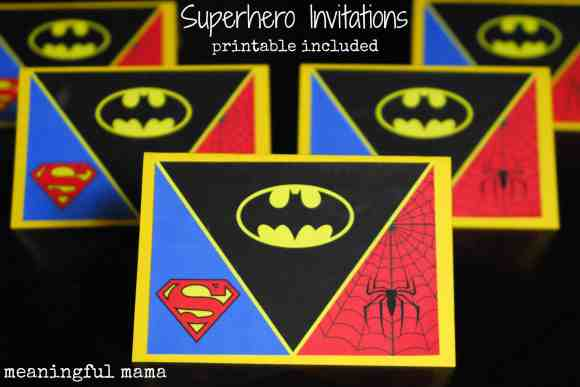 #superhero birthday invitation #free printable -005