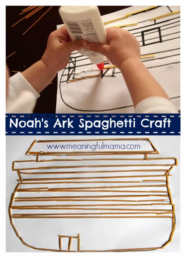 Noah's Ark Craft Spaghetti Kids